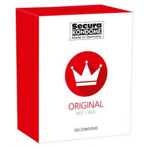 Secura Red – ochucené kondomy (100 ks)